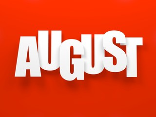 August on red