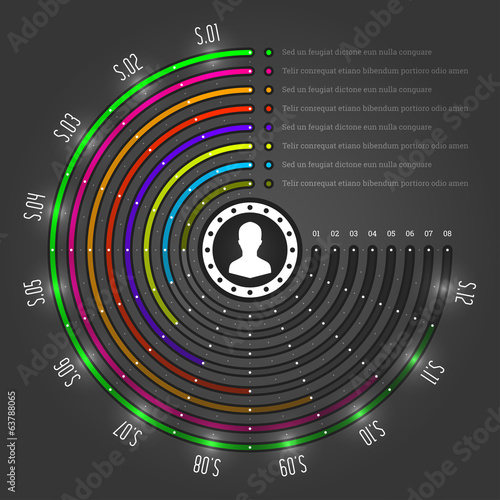 Creative Infographics Circle Bars Diagram