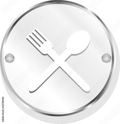 web buttons food icon: spoon and fork sign
