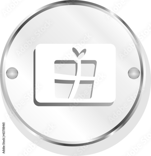 Gift icon web app button isolated on white