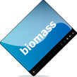 Video player for web, biomass word on it