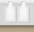 Frame on Brick Wall for Your Text and Images, Vector Illustratio