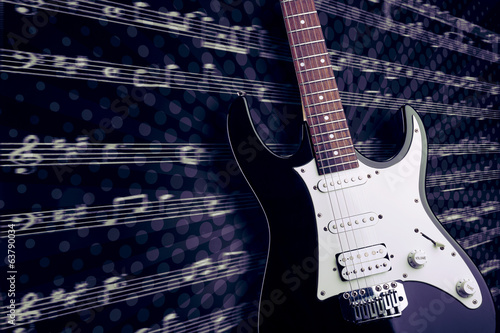 Electric guitar closeup picture