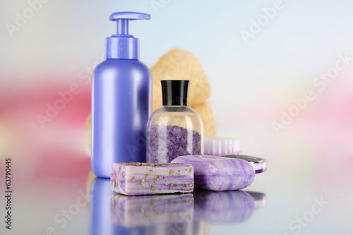 Hygienic equipments, on light background