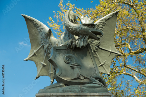 A Basilisk statue in Basel, Switzerland