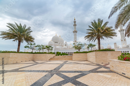 Sheikh Zayed Grand Mosque in Abu Dhabi, United Arab Emirates