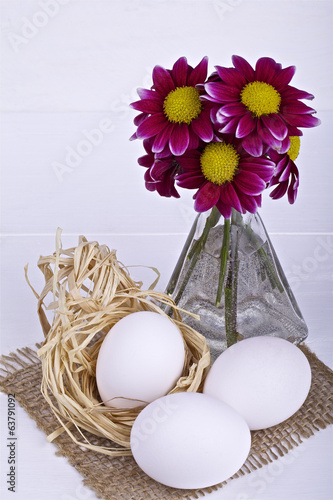 Easter decoration on a light background