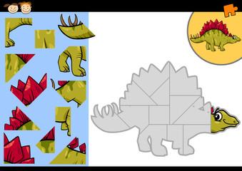 cartoon dinosaur jigsaw puzzle game