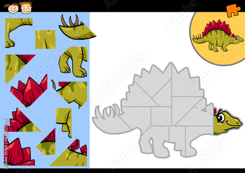cartoon dinosaur jigsaw puzzle game