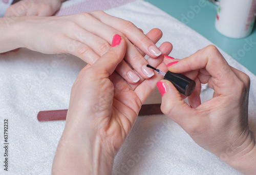 Gentle care of nails in a salon