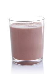 Chocolate milk isolated on white