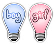 Boy and girl light