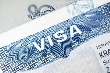 American Visa Closeup