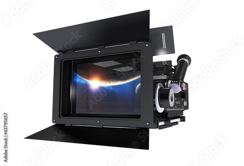 Cinema Camera Isolated