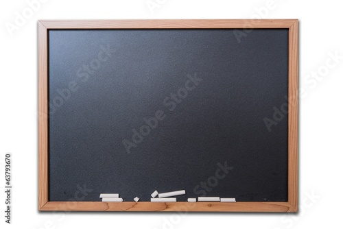Blank Blackboard Isolated