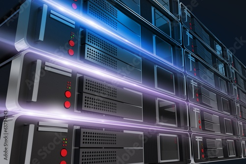 Servers Rack Illustration