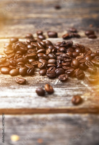 Coffee on Wood Boards