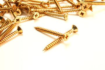 Tornillos para madera dorados y de estrella