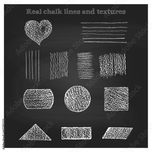 Real chalk patterns