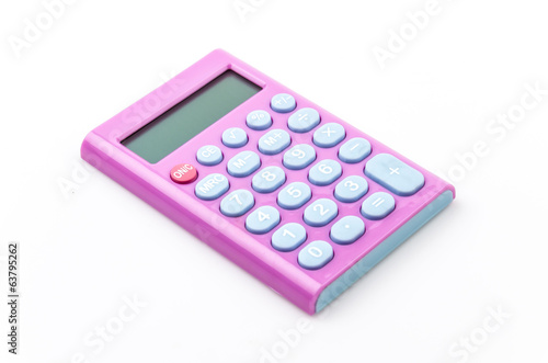 Calculator isolated white background