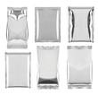 Leinwanddruck Bild - aluminum foil bag package template food
