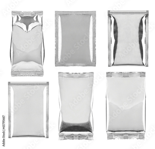 aluminum foil bag package template food