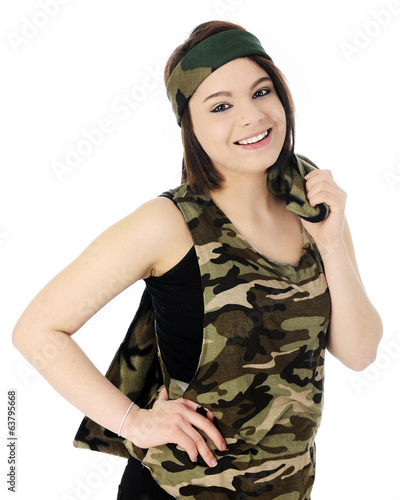 Happy Camo Girl