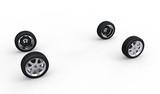 Creative dissociative automotive concept of ar wheels poster
