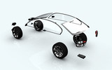 dissociative automotive concept of ar wheels poster