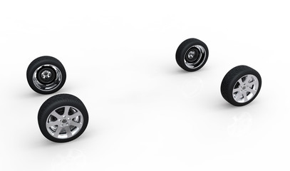 Creative dissociative automotive concept of ar wheels