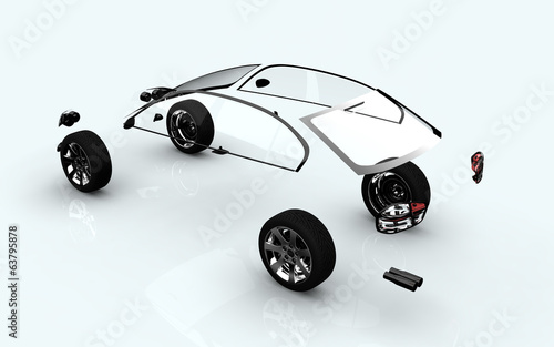 dissociative automotive concept of ar wheels