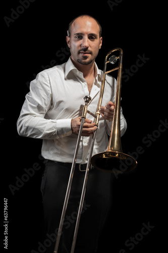 Playing my trombone