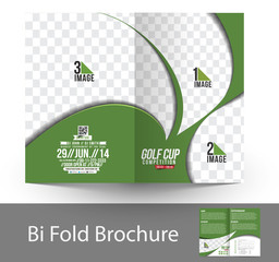 Bi-Fold Golf Tournament Mock up & Brochure Design