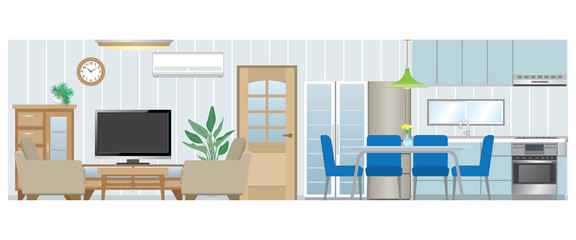 Living room / Dining room / Kitchen_Type1