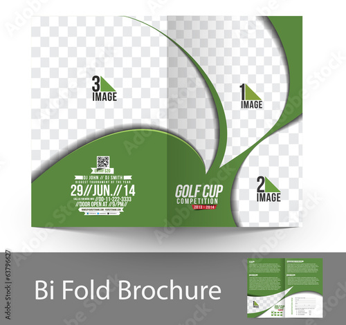 Bi-Fold Golf Tournament Mock up & Brochure Design