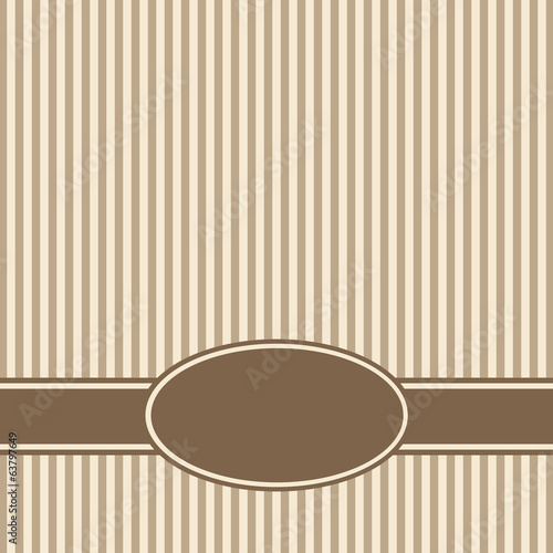 Template of a congratulatory card. Vector.