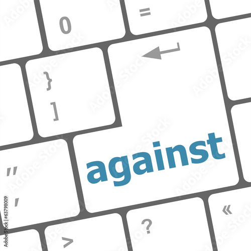 against word on computer pc keyboard key