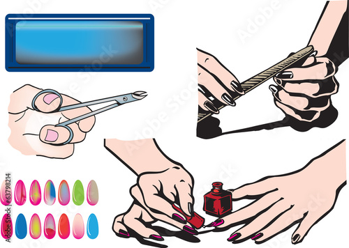 Woman nails stylist