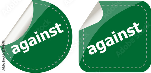 against stickers set on white, icon button
