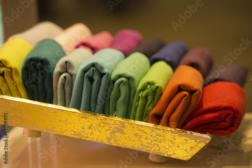 Different colors silk fabric