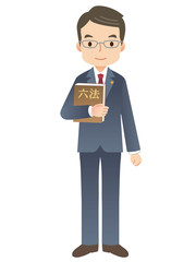スーツを着た男性/弁護士