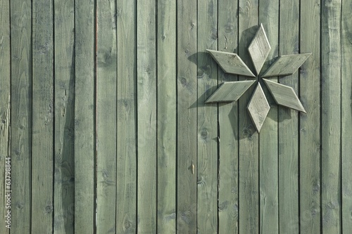 Retro Wooden Fence Flat Plank Panel Detail Background, XXXL