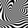 Design heart vortex rotation illusion background