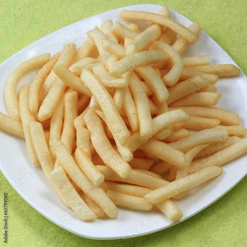 Potatoes fries in the plate