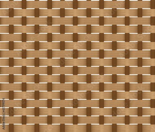 Seamless Pattern of a Wicker Basket Weave