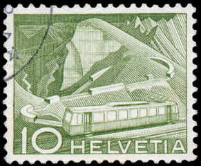 Stamp printed in Switzerland, shows Mountain Railway
