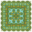 Squared background - ornamental floral pattern. Design for banda