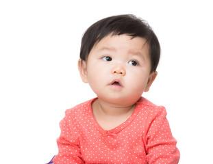 Asia baby girl isolated
