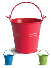 Bucket set. Isolated. Vector Illustration