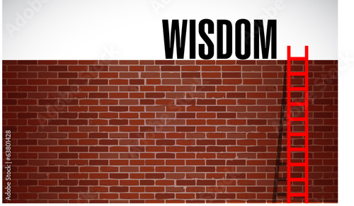 ladder to wisdom. illustration design